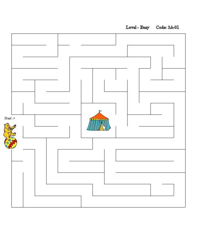 Sheets  gt  Maze Puzzles  gt  Simple Square - Side-to-Center Solution  1Simple Square Maze