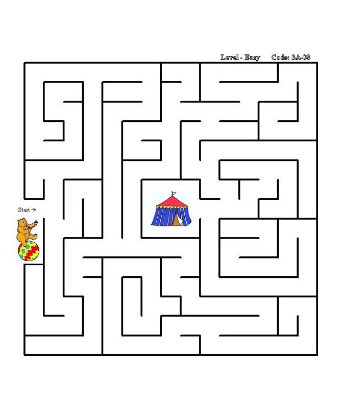 Sheets  gt  Maze Puzzles  gt  Simple Square - Side-to-Center Solution  8Simple Square Maze