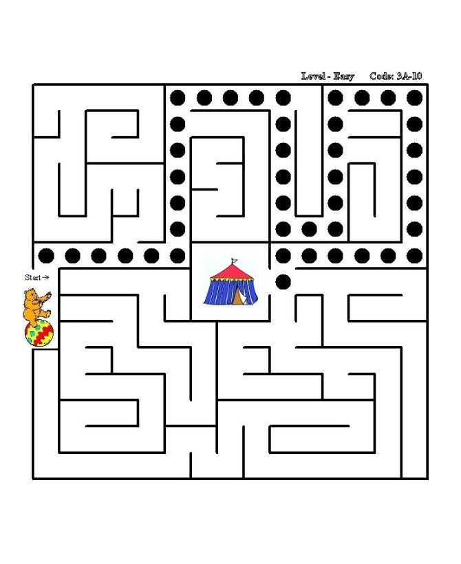 BlueBonkers Home  gt  Puzzle Sheets  gt  Maze Puzzles  gt  Simple Square - Side    Simple Square Maze