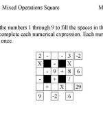 Number Puzzle activity sheets